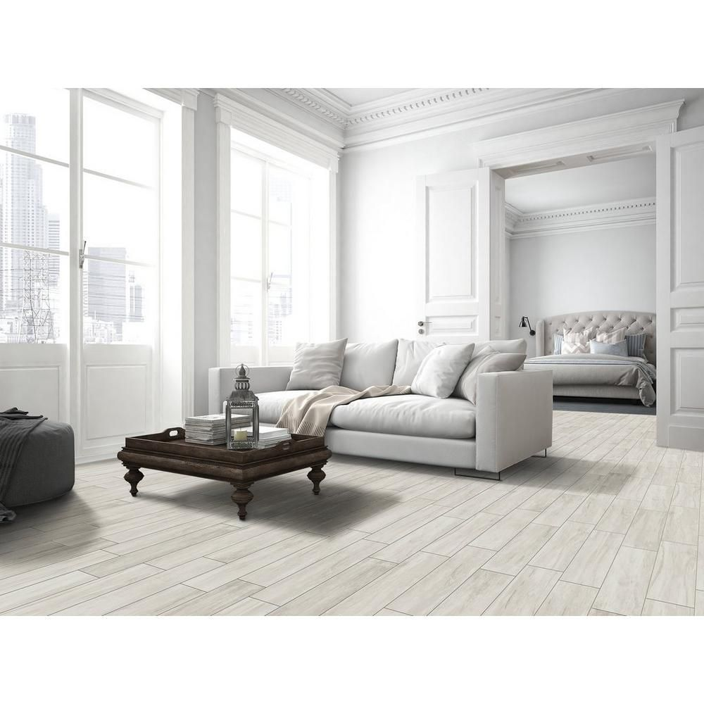 Providence Bianco Wood Plank Porcelain Tile - 8in. x 32in ...