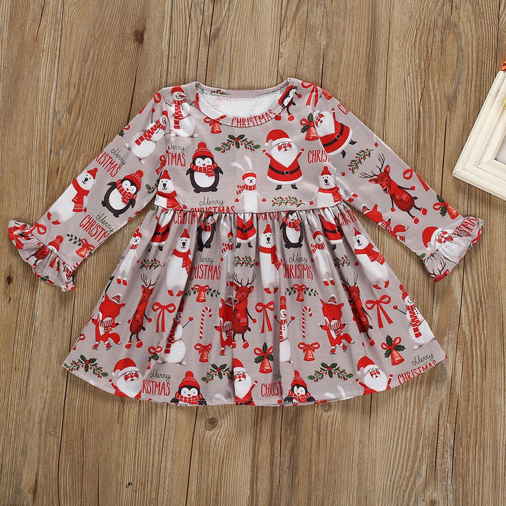 Daily Deals For Moms Patpat Long Sleeve Print Dress Matching Christmas Outfits Baby Christmas Outfit [ 1000 x 1000 Pixel ]