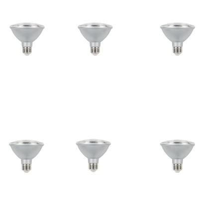 Westinghouse 75 Watt Equivalent Cool White Par30 Dimmable Led Flood Light Bulb 6 Pack Dimmable Led Lights Outdoor Light Bulbs Bulb