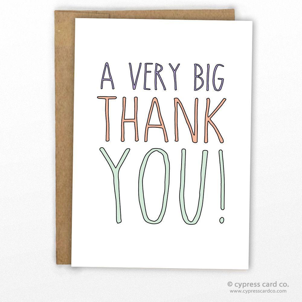 a big thank you card blank inside a2 size 4 25 x 5 5 100