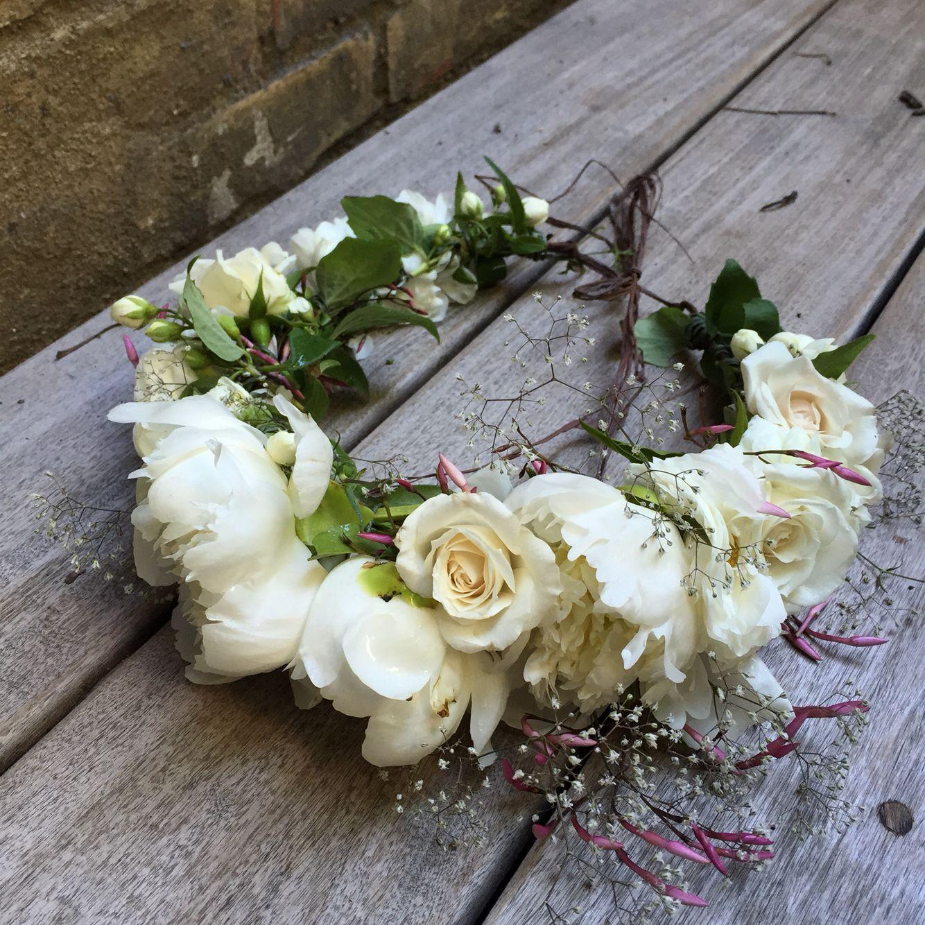 Floral Workshop White Flower Crown Floral Crown Flower Crown Bride