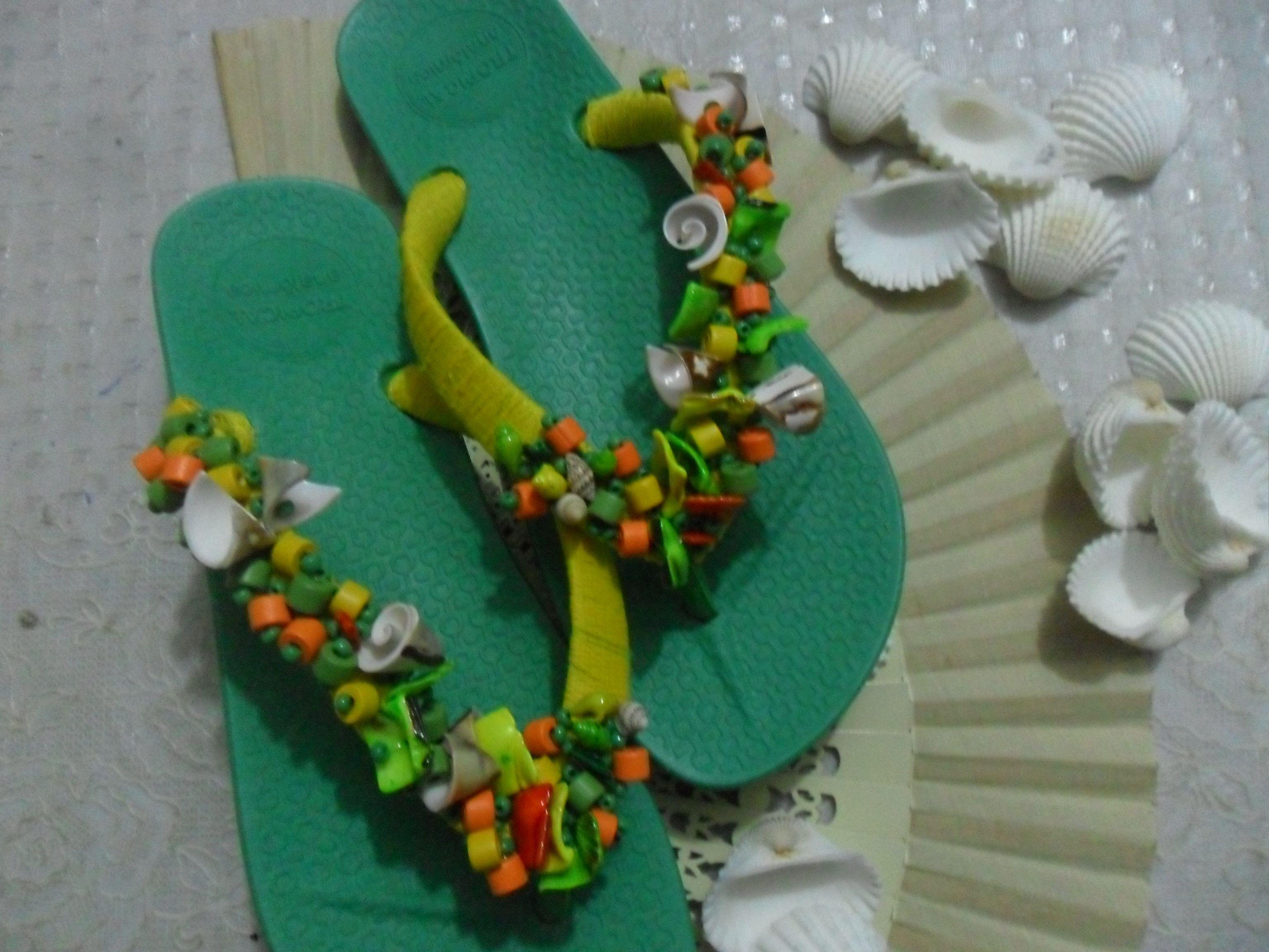 Sandalias  de Playa muy artesanalesDiseños Clariangel
