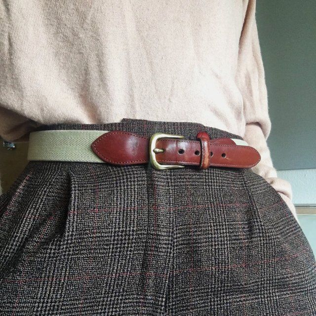 7322b09107a Beautiful Authentic Coach Vintage Chic Belt Braided canvas  - Depop ...
