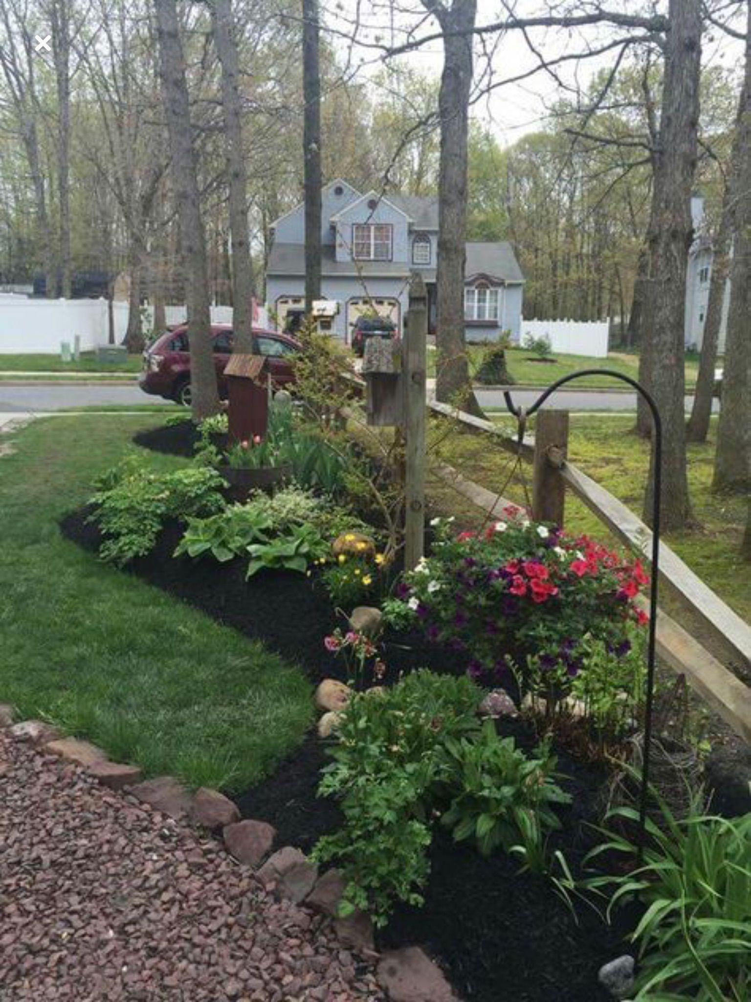 Property Line Border And Fence Cottage Garden Backyard Garden