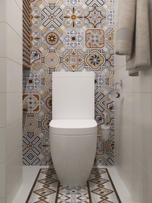 ไอเด ย การตกแต งห องน ำสไตล โมเด ร นผสมผสาน ด วยกระเบ องลวดลายเรทโทร กระเบ องลายโบราณ Designs De Petite Salle De Bains Deco Toilettes Salle De Bain Tendance
