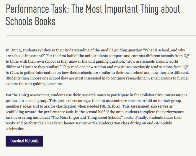 Nd Gr Module  Unit  Lesson  Performance Task The Most