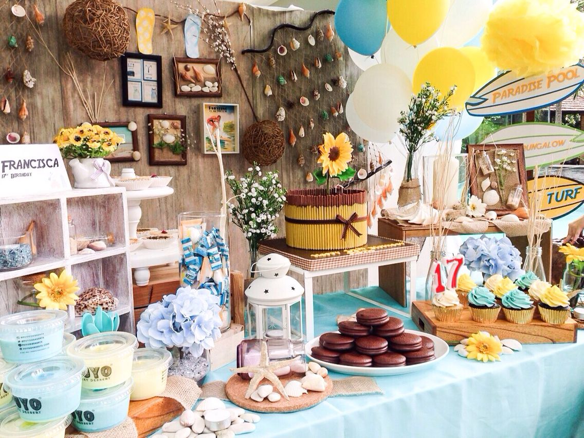 snack corner #summerpartyvibes #partydecoration | party decor ...