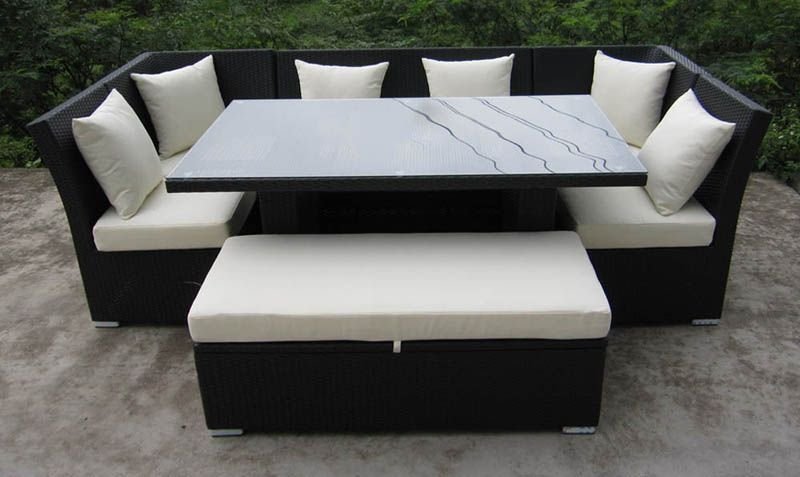 7f35eac103eb Sectional dinette set $1,700 Dining Sofa, Wicker Dining Set, Outdoor Wicker  Patio Furniture,