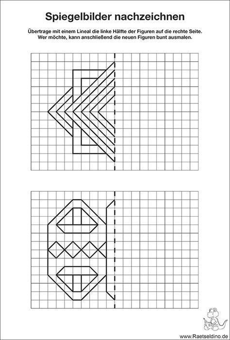 kostenloses spiegelbilder f r kinder zum nachzeichnen 3rd grade 2018 mathematikunterricht. Black Bedroom Furniture Sets. Home Design Ideas
