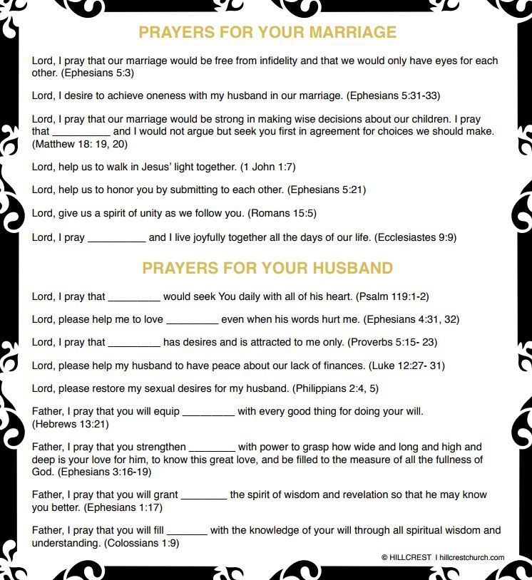 Prayer Outlines For Marriage And Husband The Word Of God