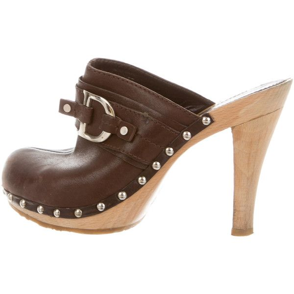 Manchester cheap online Christian Dior Suede Round-Toe Clogs cheap best store to get KMw6I0hAy