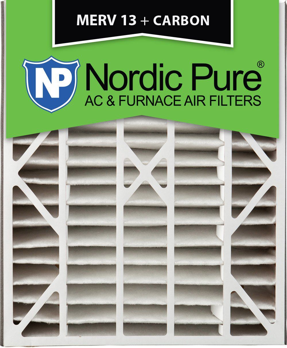 Nordic Pure 20x25x5 4 7 8 Actual Depth Merv 13 Plus Carbon Trion