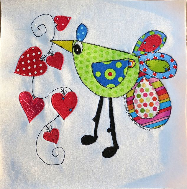 Bird w/hearts block | Flickr - Photo Sharing!