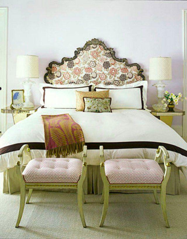 décoration-style-rétro-chambre-coucher-romantique   House   Chambre ...