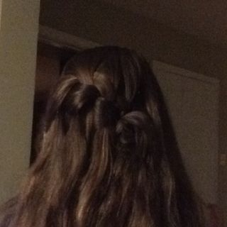 First attempt at waterfall braid