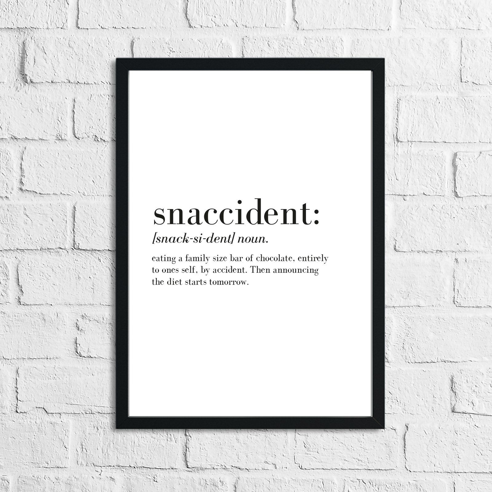 Photo of Snaccident Definition Wall Art Print – A2 / Normal