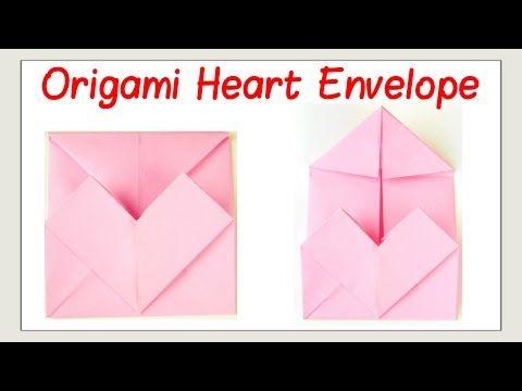 Origami Opening Heart Box / Envelope Tutorial - Paper Kawaii | 360x480