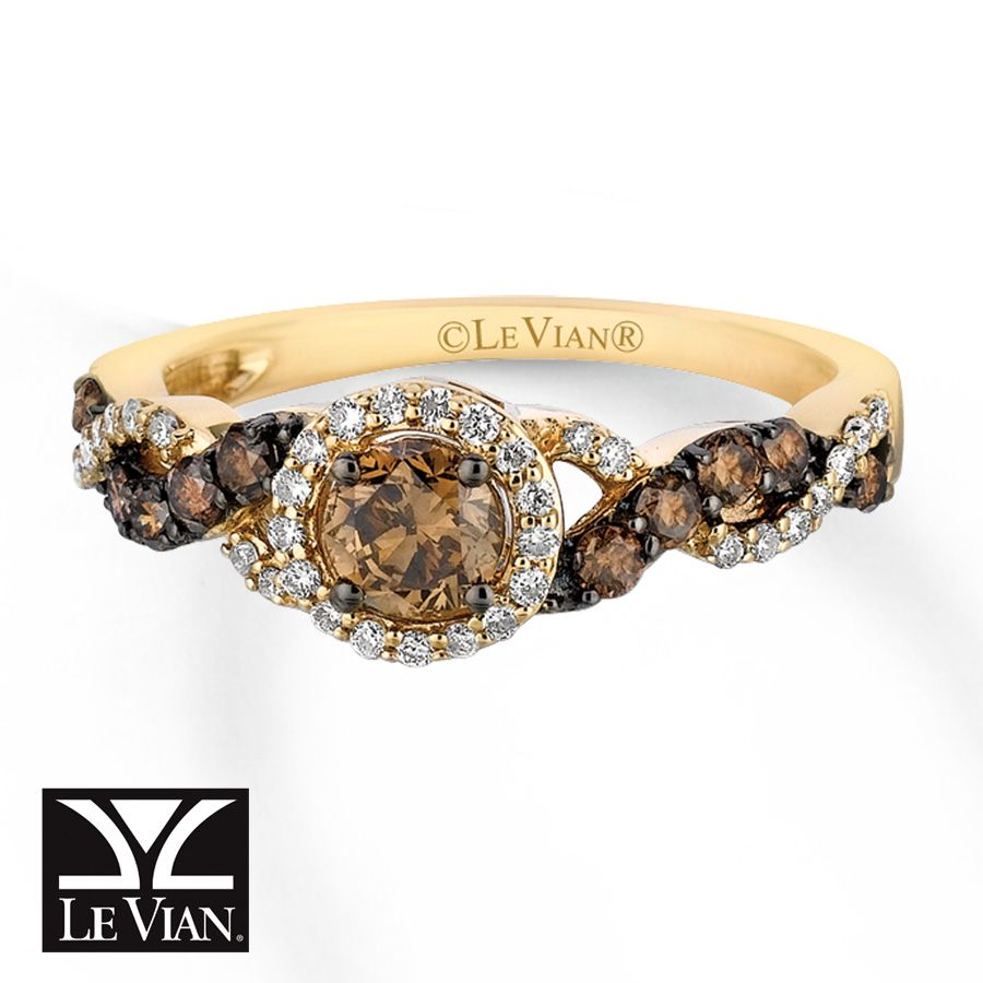 Bon Absolutely Love The Chocolate Diamonds From LeVian! Showing Chocolate Love  Through Jewelry LeVian Chocolate Diamonds Ct Tw Ring Honey Gold