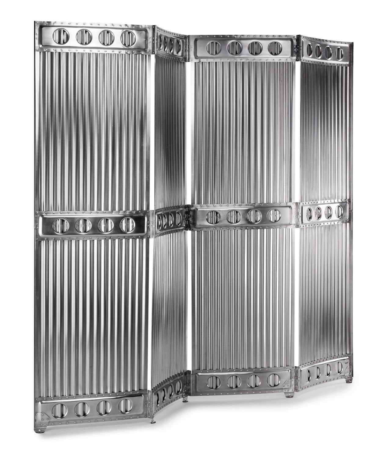 Corrugated Metal Room Divider The Screen Is Made By Hand From Thin Corrugated Aluminum Sheets Designed And Made In Germany By Aero 1946