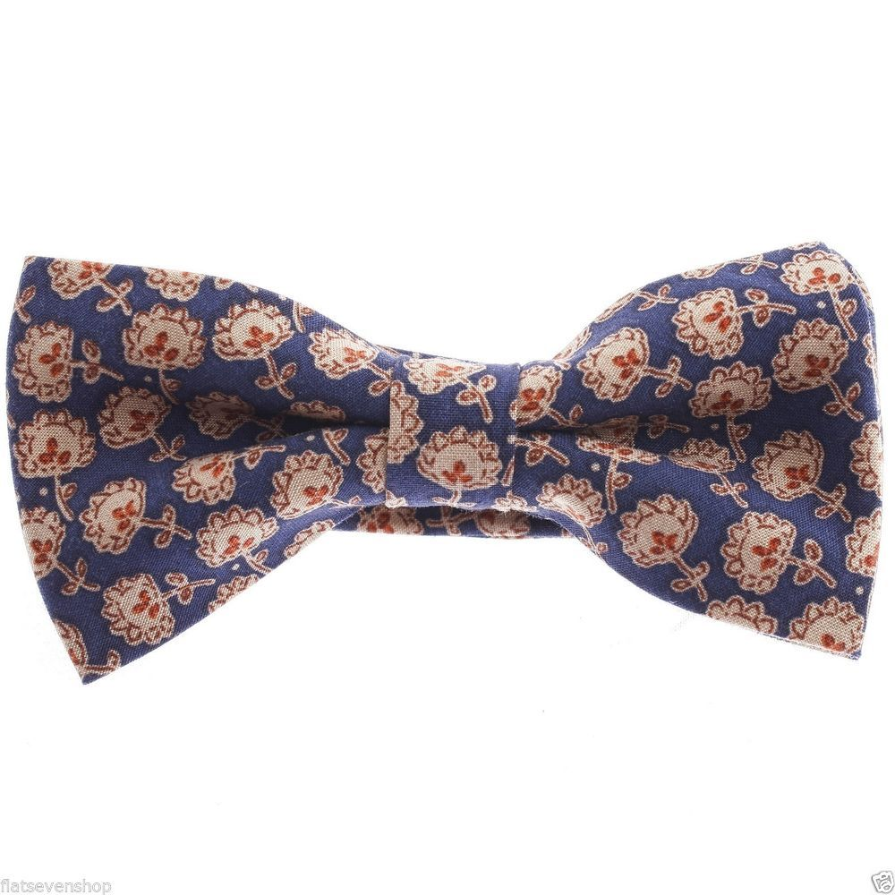 FLATSEVEN Mens Pre-Tied Floral Printed Classic Bow Tie (YB017) #FLATSEVEN #BowTie