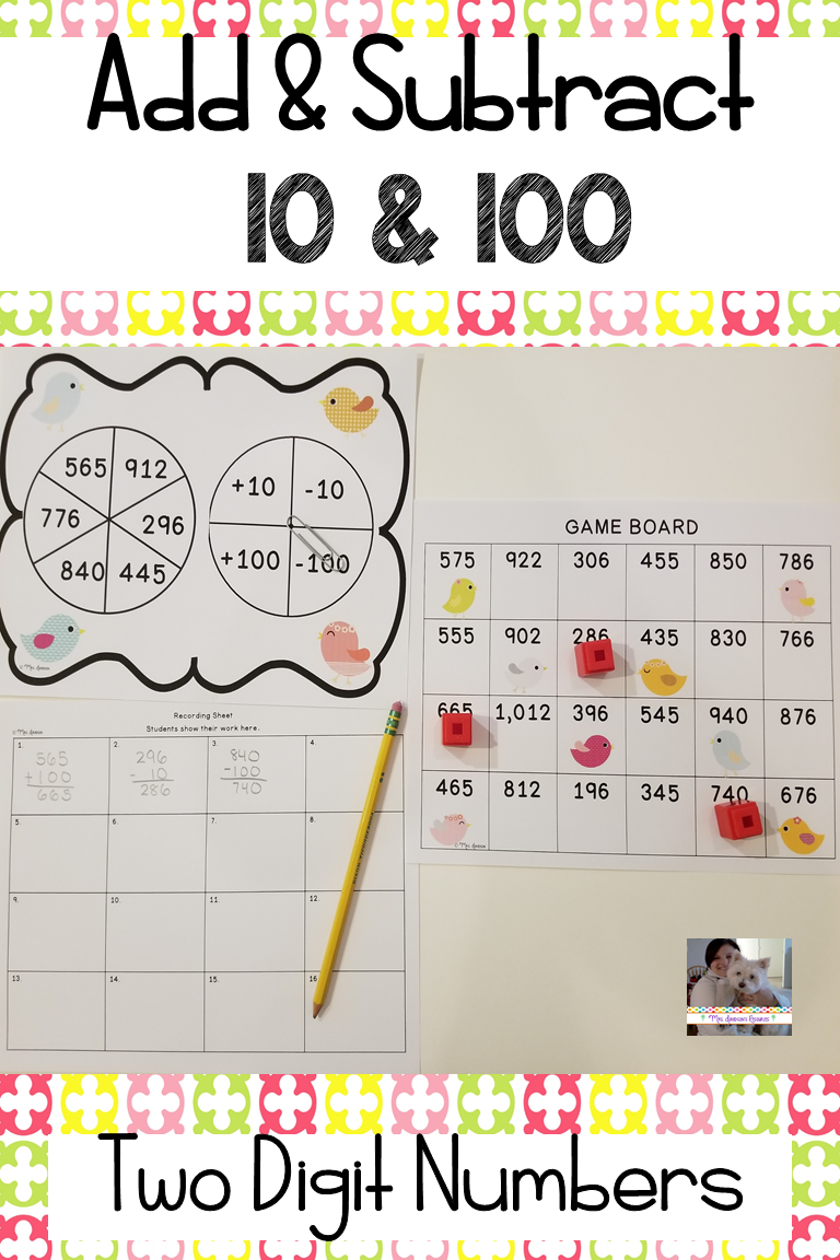 Add And Subtract 10 And 100 Adding And Subtracting Math Activities Teaching Elementary [ 1152 x 768 Pixel ]