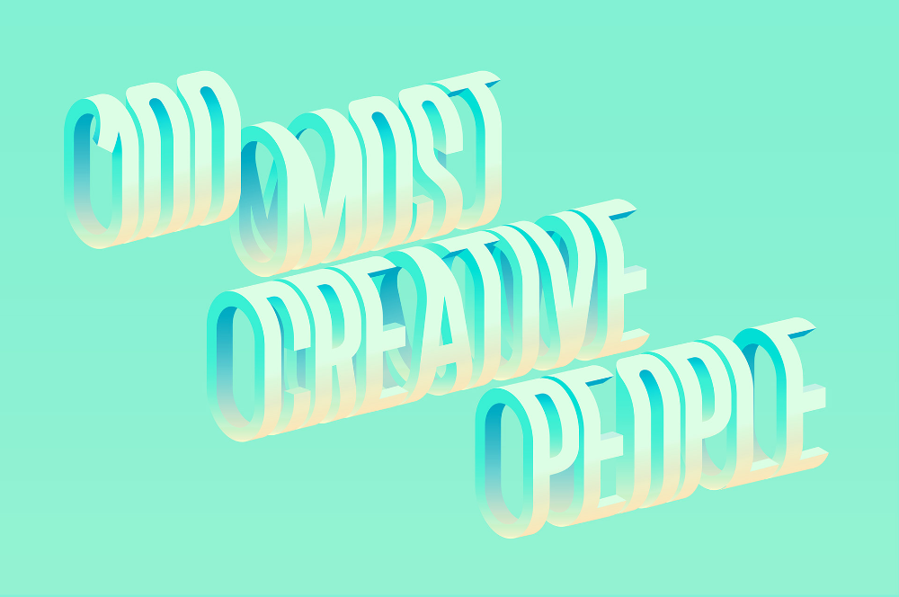 Fast Company 100 Most Creative People 2018 On Behance Graphic Design Trends Typography Design Inspiration Creative People