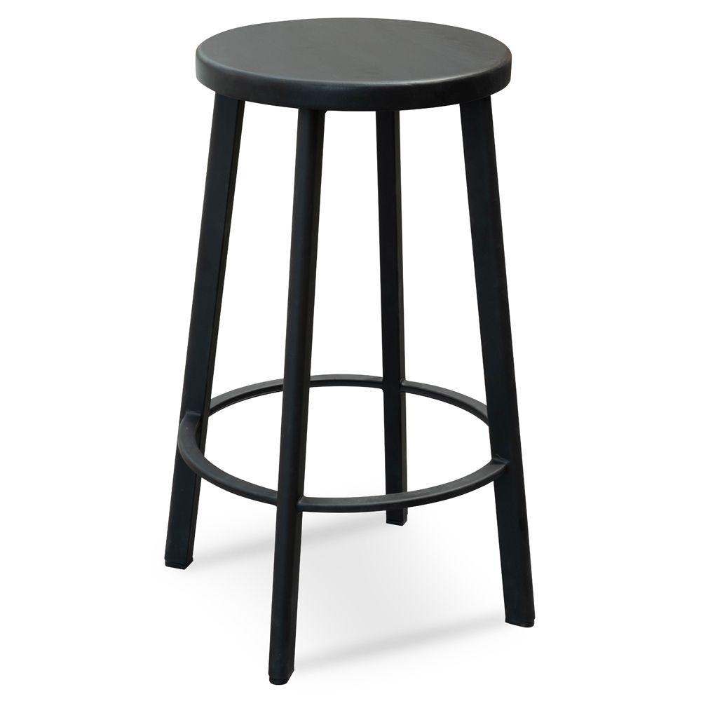 James 65cm Timber Seat Bar Stool Black Interior Secrets Round Bar Stools Stool Bar Stools