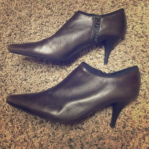 Authentic Prada leather heel booties soft leather Have been worn but tons of wear left. Please see pics. Authentic!!! Prada Shoes Heels