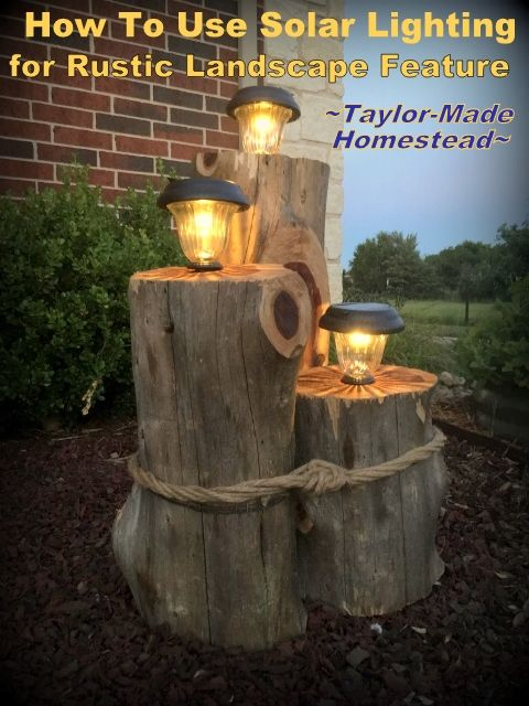 How to Make A Rustic Cedar Solar Light Feature