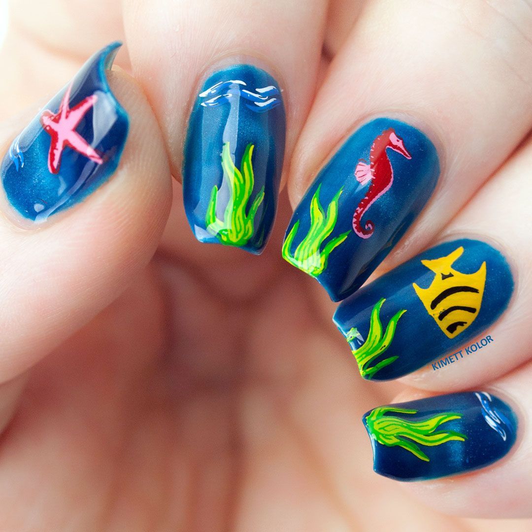 Stamping nail art design using layered plate by Clear Jelly Stamper ...