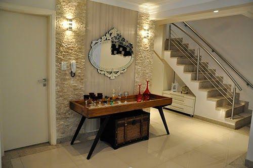 Construindo minha casa clean 50 hall de entrada de casas for Ideas para decorar salas modernas