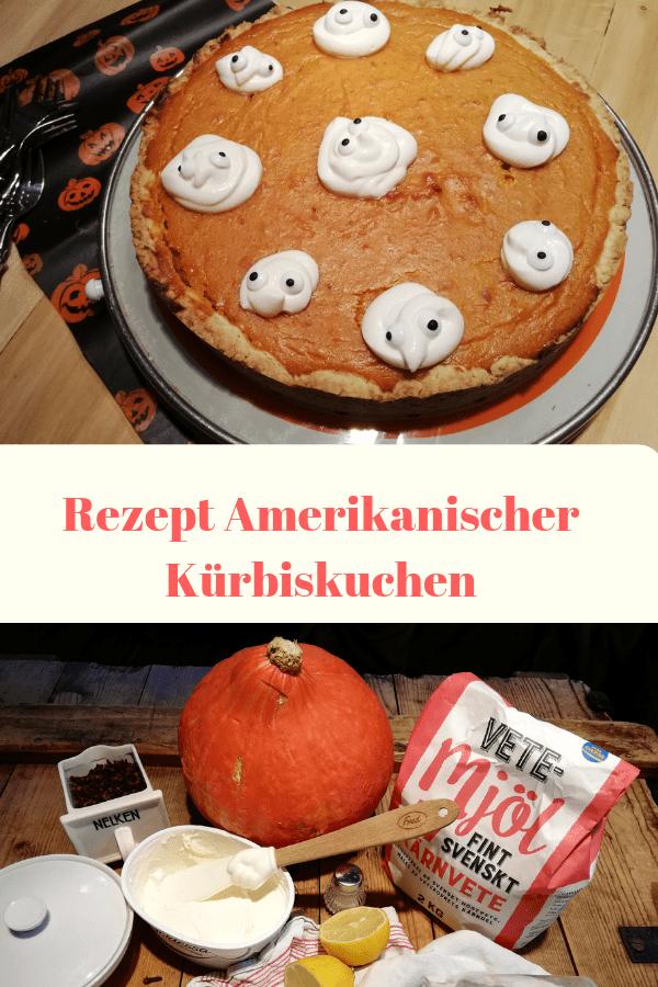 Amerikanischer Kürbiskuchen: Rezept mit Grusel-Deko für Halloween