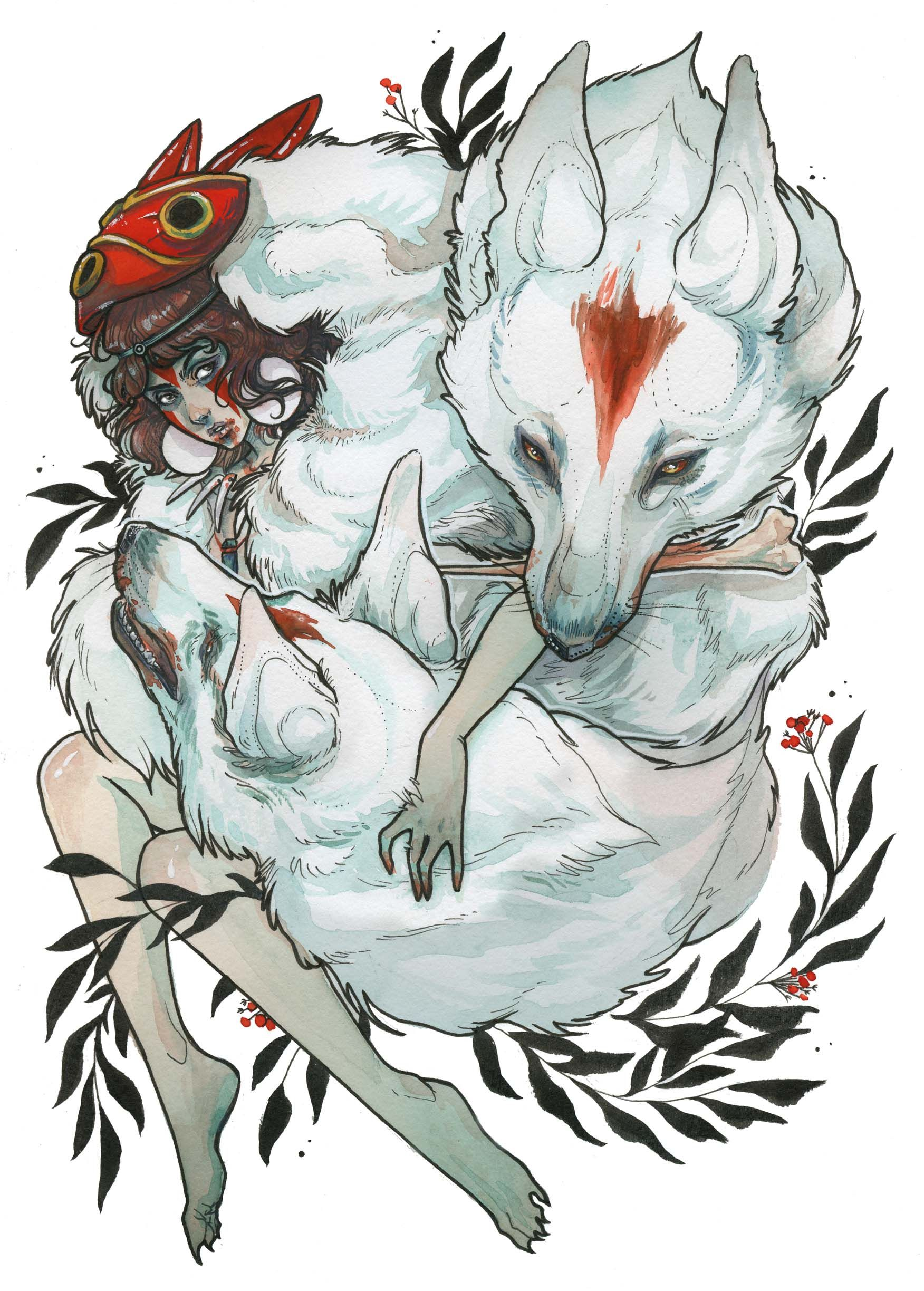 """""""Wolf Child"""" Print - S · AudraAuclair · Online Store Powered by Storenvy"""