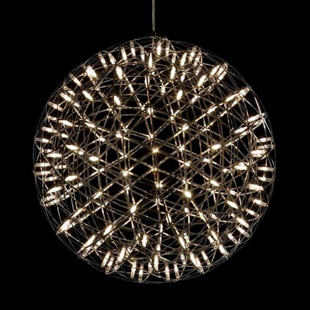 Eleganzo Collection Elegant Mooi Raimond Firework Led Stainless Steel Ball Pendant Lamp Ceiling Pendant Lights Chandelier Ceiling Lights Pendant Light