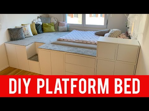 158 Ikea Diy Hack Platform Bed Youtube Ikea Platform Bed Diy Platform Bed Kids Platform Bed