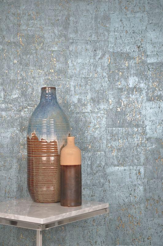 Silver Metallic Cork Wallpaper Google Search Cork Wallpaper Interior Wall Design Metallic