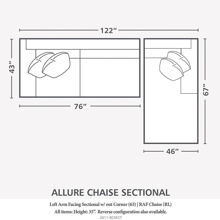 Right Chaise Sectional Sectional Sofas Living Room Bassett