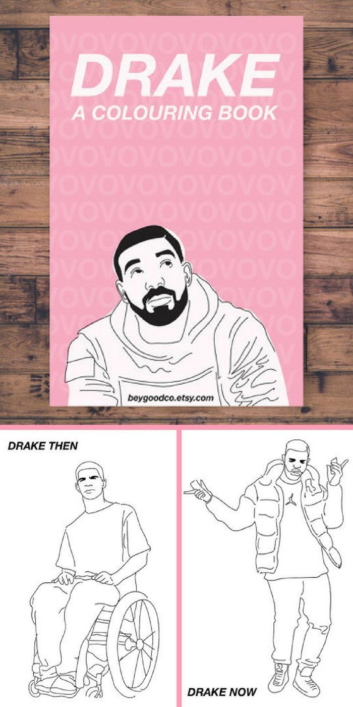 Printable Drake Coloring Book With 10 Pages Instant