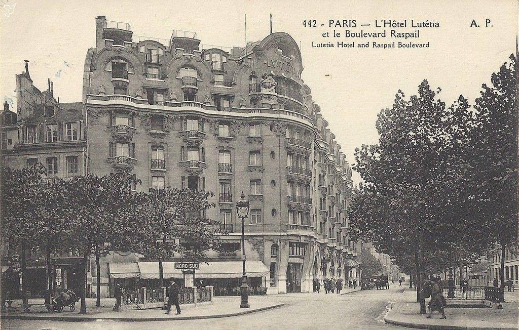 hotel lutetia in paris paris 1900 pinterest paris paris photo et photos anciennes. Black Bedroom Furniture Sets. Home Design Ideas