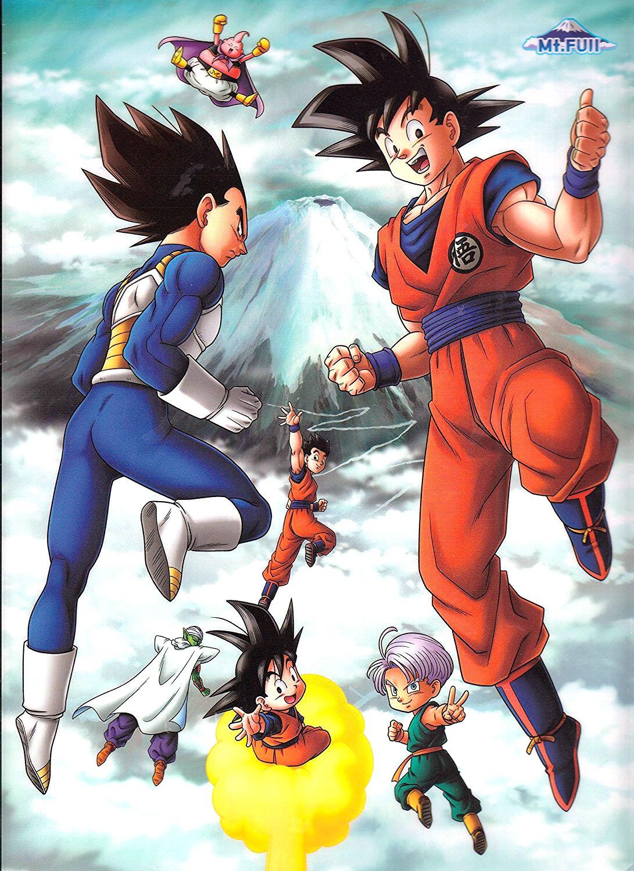 Vegeta Goku Gohan Trunks Goten Piccolo And Majin Buu Dragon Ball Dragon Ball Z Dragon Ball Art
