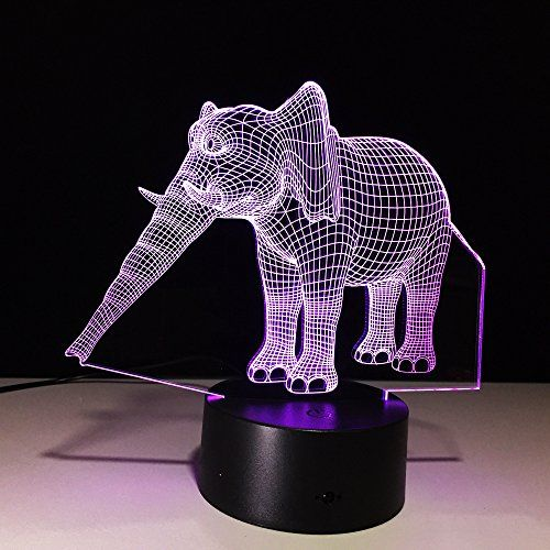3d Illusion Animal Elephant Led Desk Table Night Light Lamp 7 Color Touch Lamp Kiddie Gift Childrenroom Theme Decoration See This Lamp Touch Lamp Night Light
