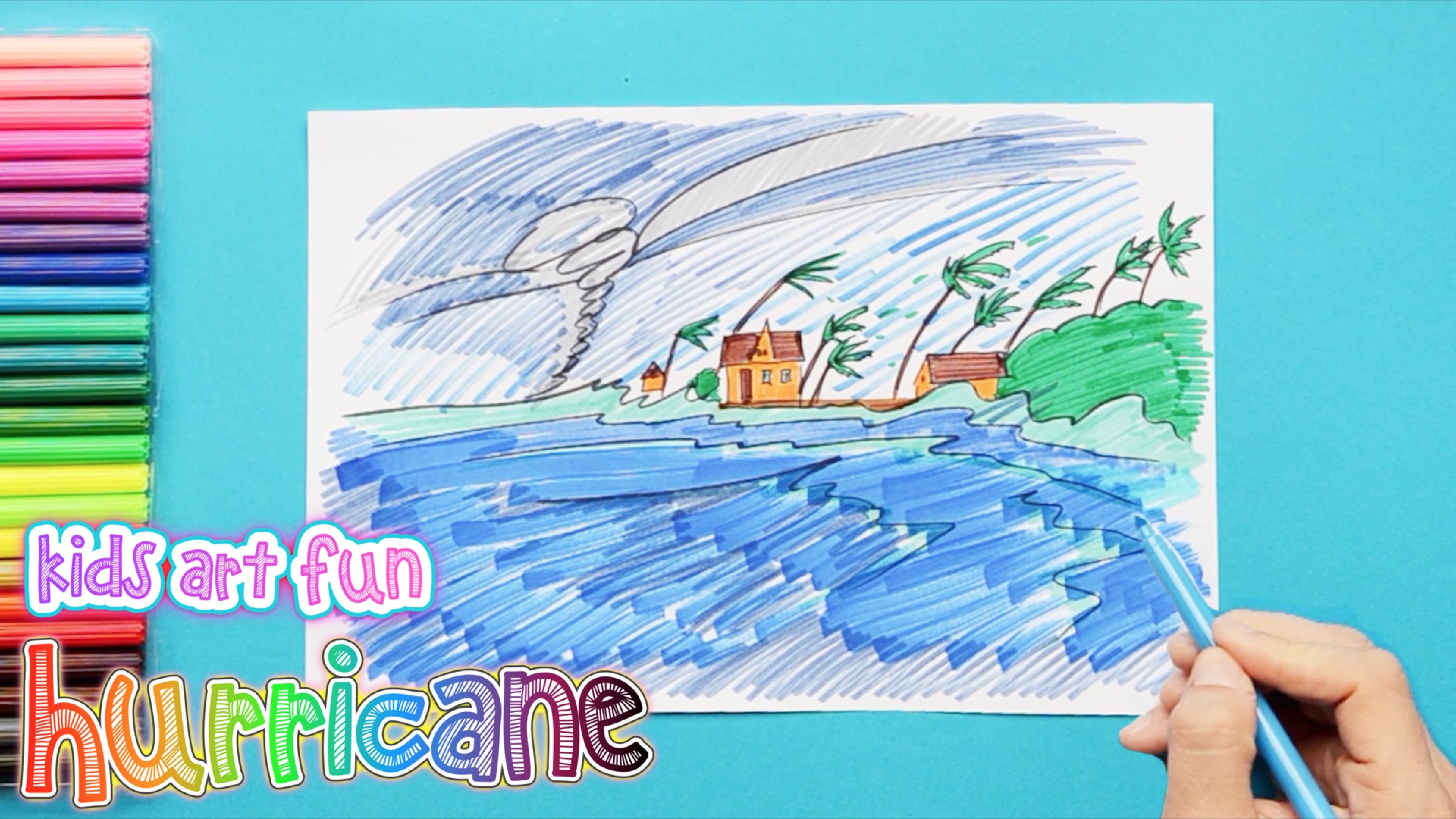 How To Draw And Color A Hurricane Hurricane Drawing Drawings Art For Kids