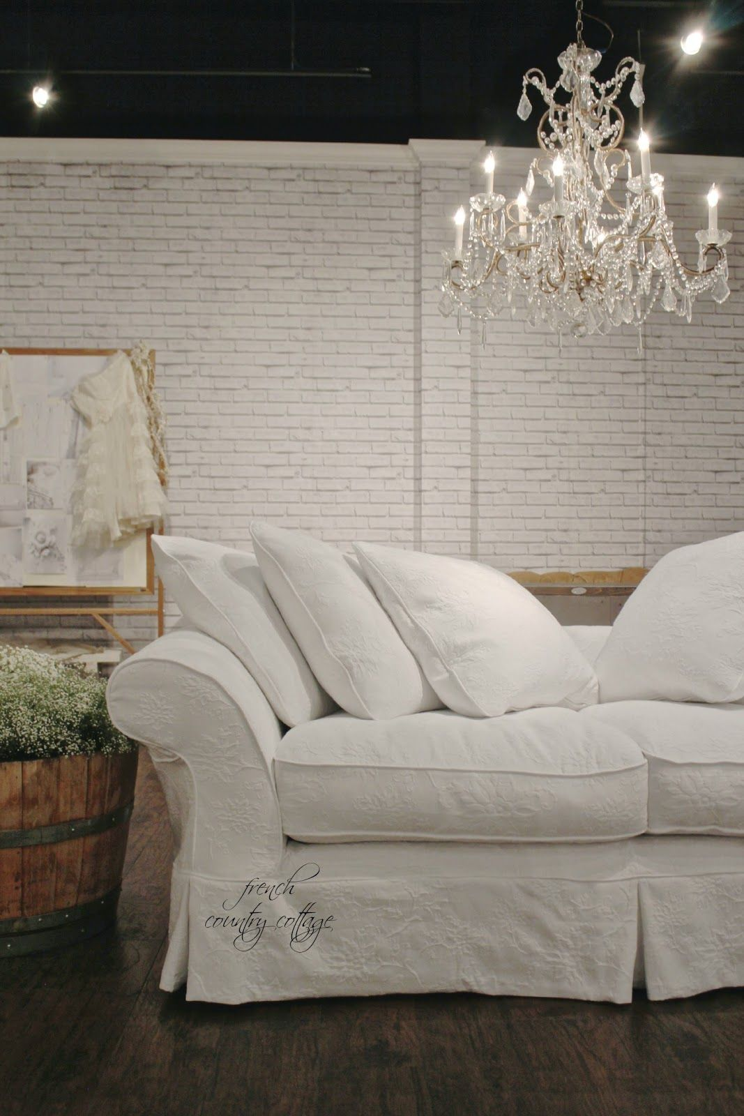 High Point Market Inspirations French Country Cottage Shabby Chic Sofa Chic Sofa Country Sofas #shabby #chic #sofas #living #room #furniture
