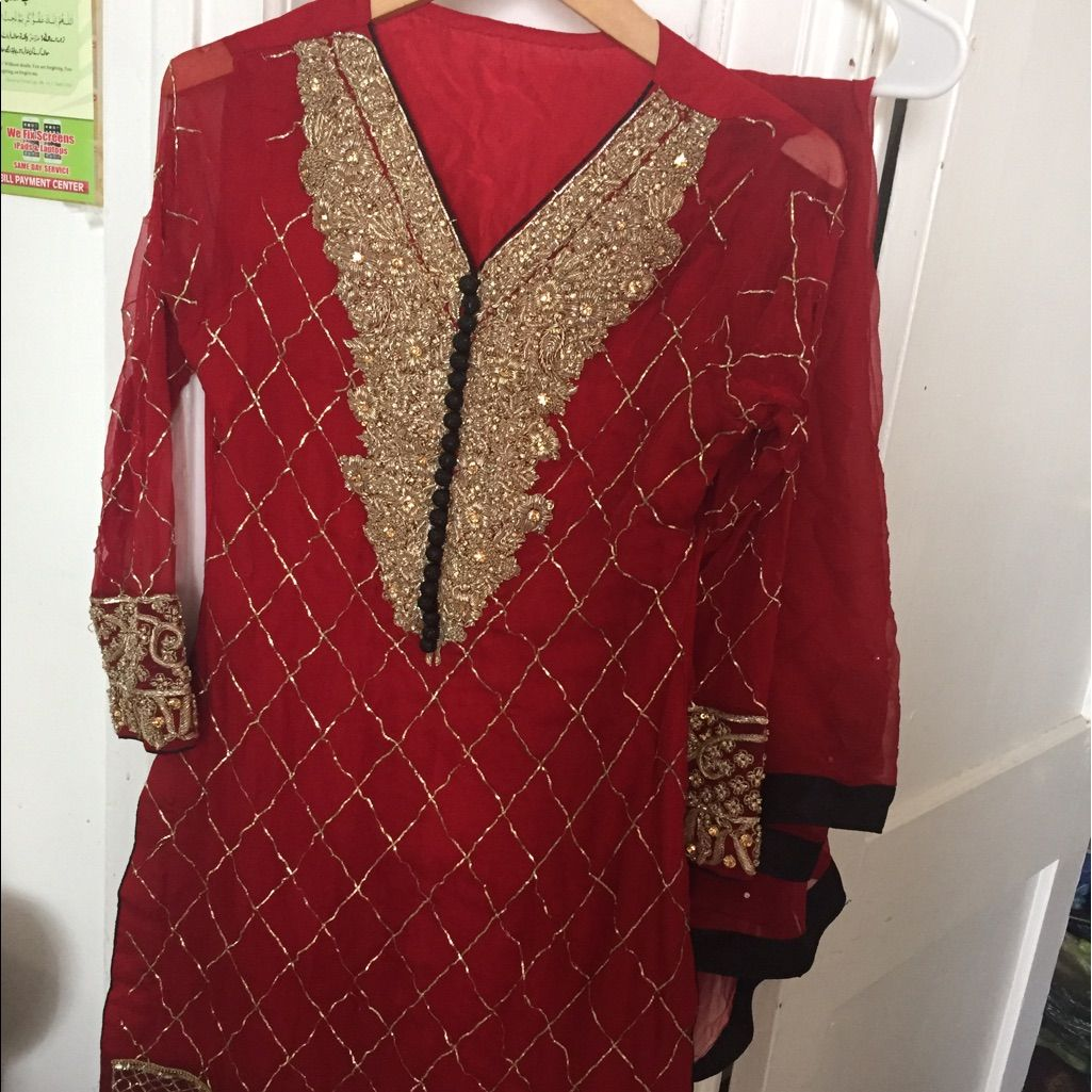 Beautiful Red Shalwar Kamiz