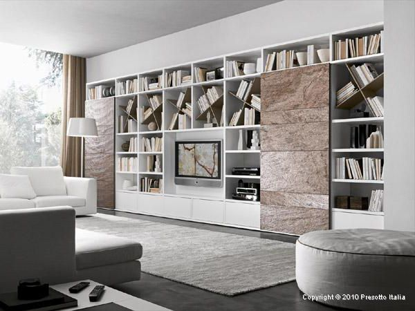 Living Room Storage Solutions Ideas - u0027Pari u0026 Dispariu0027 units by Presotto & Living Room Storage Solutions Ideas - u0027Pari u0026 Dispariu0027 units by ...