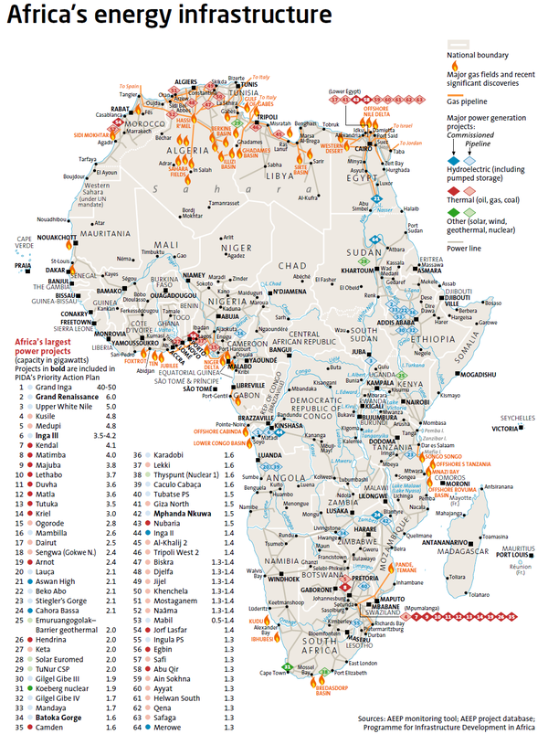 Africa energy infrastructure by aeep map africa energy maps africa energy infrastructure by aeep map africa energy gumiabroncs Choice Image