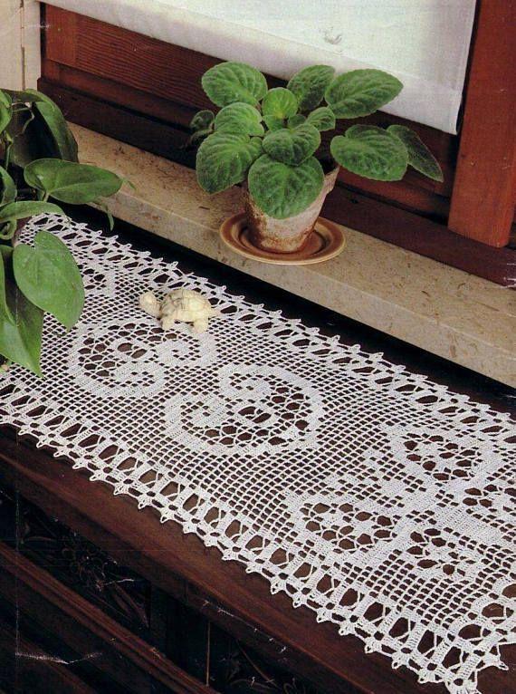 203. Vintage crochet doily UK pattern in pdf | tejidos | Pinterest ...