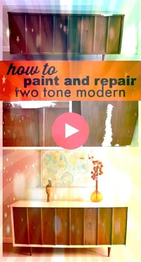 Thrift Flip 70 Mid Century Modern Dresser Makeover via Charleston Crafted Mid Century Modern Dresser Makeover How to restore the classic beauty of a midmod dresser Mid...