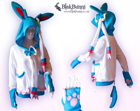 MADE TO ORDER Shiny Sylveon Nymphia pokemon inspired by BlakBunni