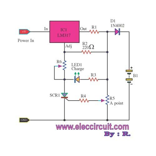 4 Lead Acid Battery Charging Circuit Using Lm317 Electronic